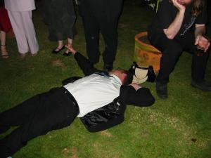 Groom passed out at the wedding