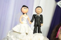 Wedding cake toppers. Bride and groom.